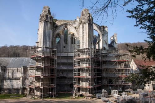Abbaye St Wandrille Travaux de restauration c.jpg